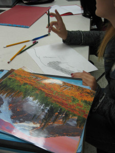 Using reference pictures to plan an artwork