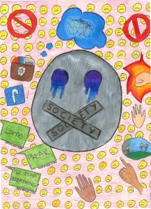 Colored Pencil about Bullying