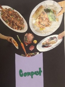 Collage about composting
