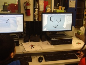 Kids creating for the 3-D Printer