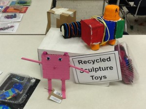 Recycled material toys