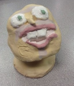 7th Grade Clay (glazed but waiting to be fired)